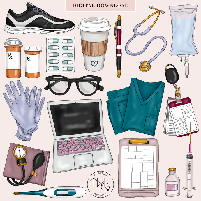 Medical Clip Art Elements