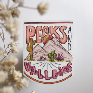 Peaks & Valleys - Die Cut Sticker