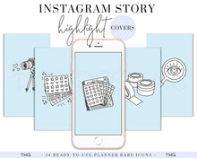 Load image into Gallery viewer, IG Story Highlight Covers, Planner Babe Instagram Story Highlight Covers - TWG Designs
