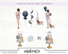 Load image into Gallery viewer, Collections, Celebrate Clip Art Collection - TWG Designs