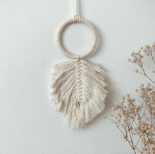 Load image into Gallery viewer, Macrame Feather - Mini Wall Accessory