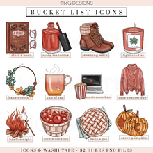 Load image into Gallery viewer, Fall Fun - Bucket List Icons