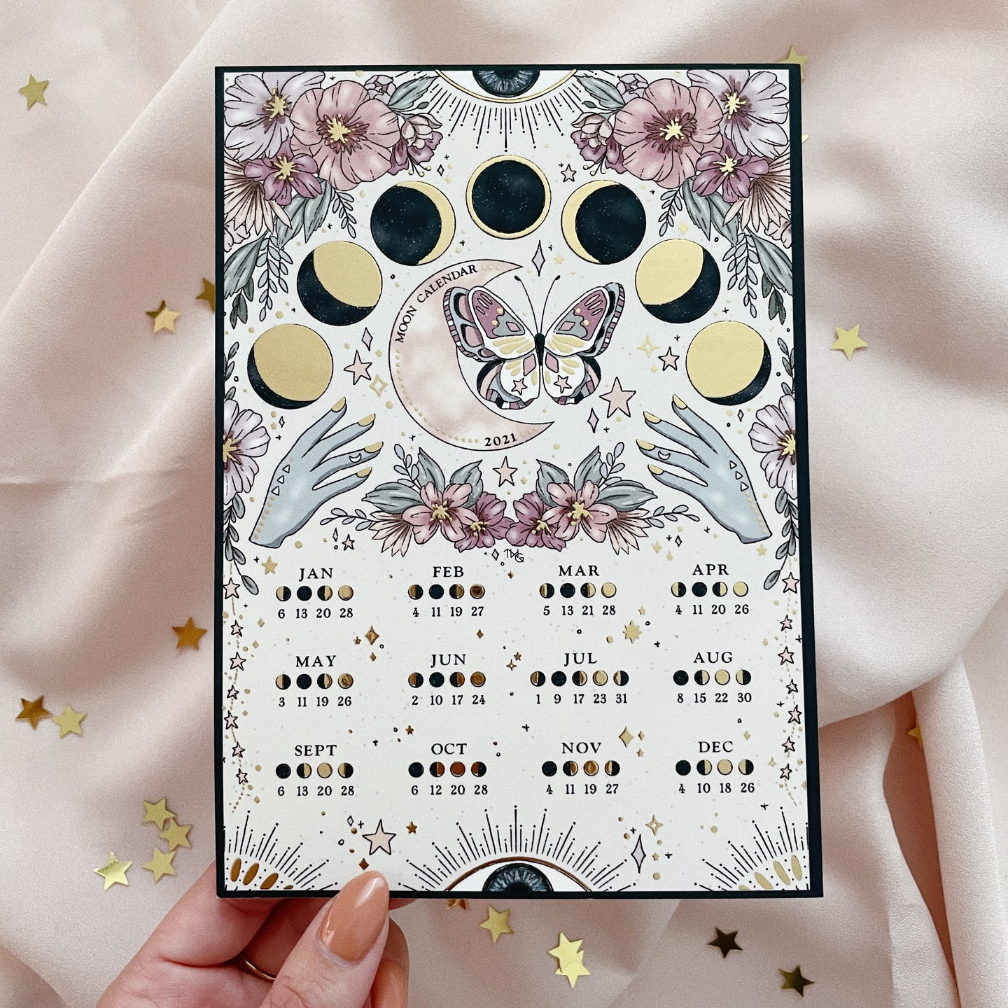 Moon Calendar 2021 - Double Sided Mini Print