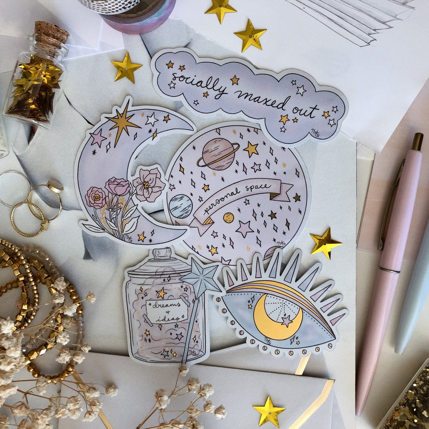 Stickers, Lunar Dreams - Sticker Pack - TWG Designs