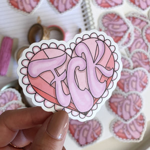 Stickers, Cute as FCK - Die Cut Sticker - TWG Designs