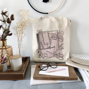 Tote Bag, Planner Goodies Tote - TWG Designs