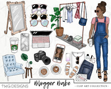 Load image into Gallery viewer, Collections, Blogger Babe Clip Art Collection - TWG Designs