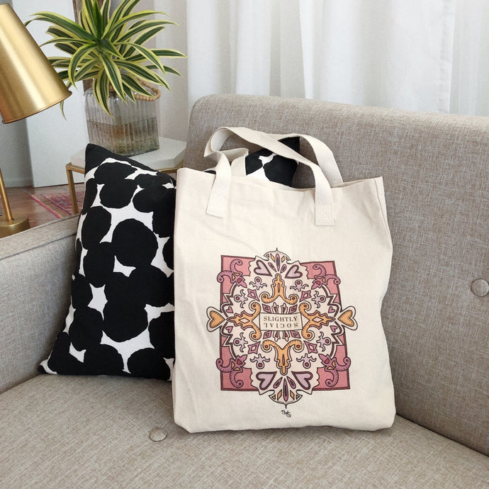 Tote Bag, Slightly Social Tote - TWG Designs