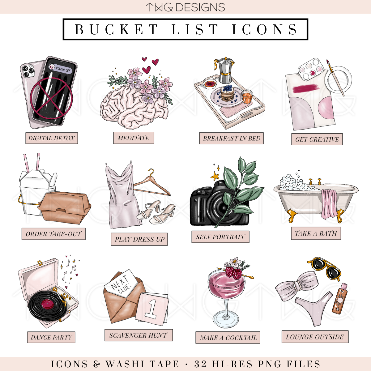 Staycation - Bucket List Icons