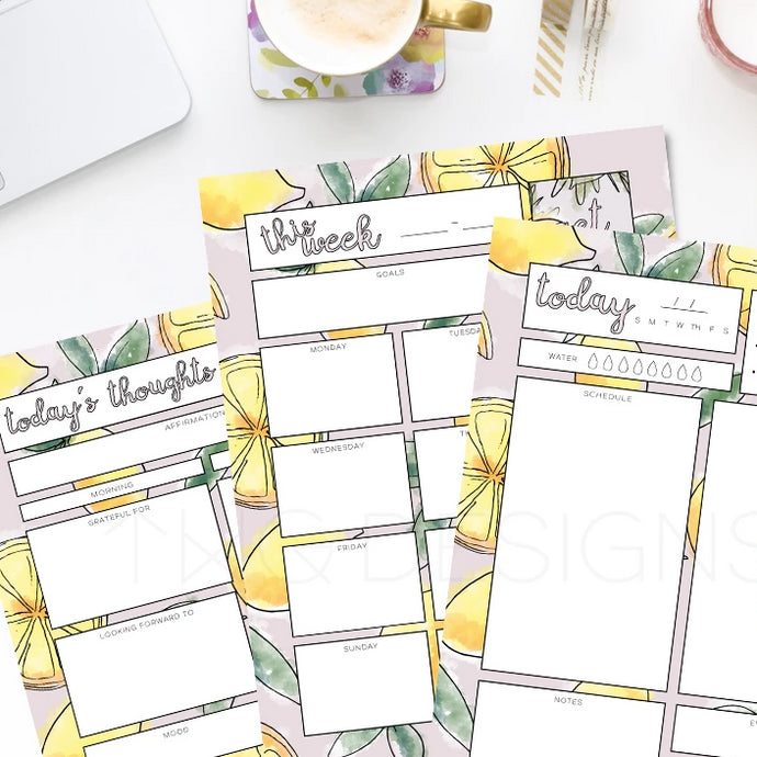 Printables, Lemons Planner Printable Bundle - TWG Designs