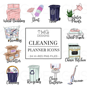 Planner Icons, Cleaning - To Do Planner Icons - TWG Designs