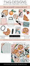 Load image into Gallery viewer, Themed Elements, Cafe Flatlay Clip Art Bundle - TWG Designs
