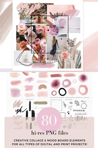 Creative Collage & Moodboard Elements