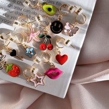 Load image into Gallery viewer, Kiss Me - Cutie Charm Hoop Earring