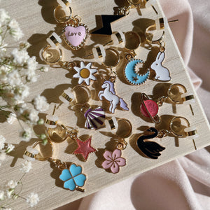 So Lucky - Cutie Charm Hoop Earring