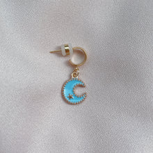 Load image into Gallery viewer, Blue Moon - Cutie Charm Hoop Earring