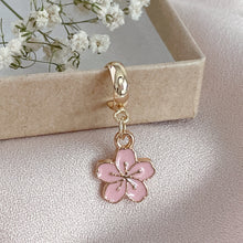 Load image into Gallery viewer, Pink Petals - Cutie Charm Hoop Earring