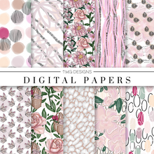 Load image into Gallery viewer, Full Bloom Digital Paper Set