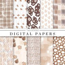 Load image into Gallery viewer, Beige Boutique Digital Paper Set