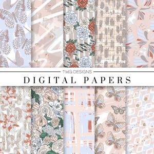 Flutter & Fly Digital Paper Set