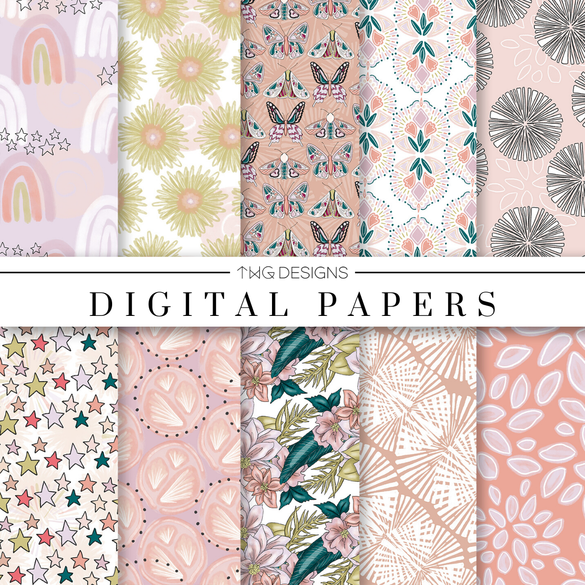 Sunset Digital Paper Set