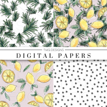 Load image into Gallery viewer, Luxe Lemons Digital Paper Set