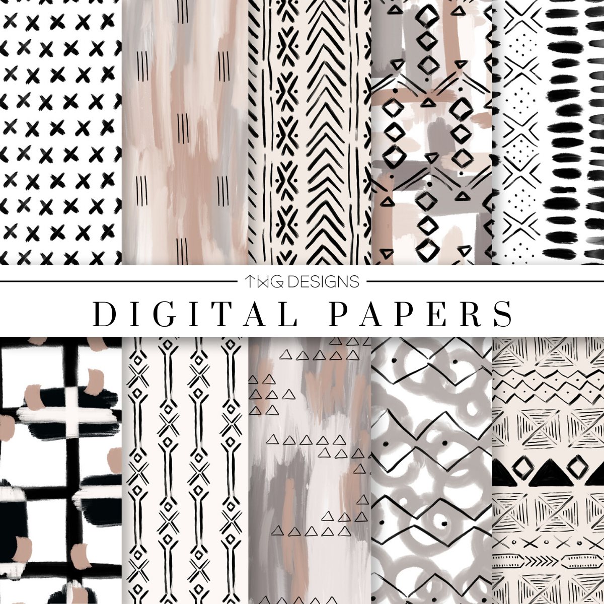 Hygge Digital Paper Set