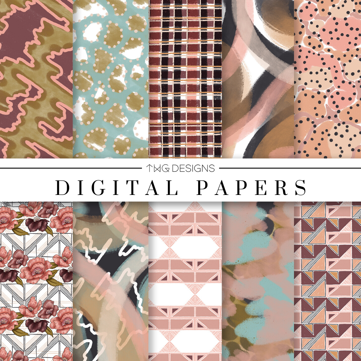 City Sweets Digital Paper Set
