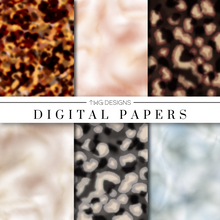 Load image into Gallery viewer, Tortoise & Pearl Digital Paper Set