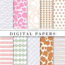 Load image into Gallery viewer, Boho Love Digital Paper Set