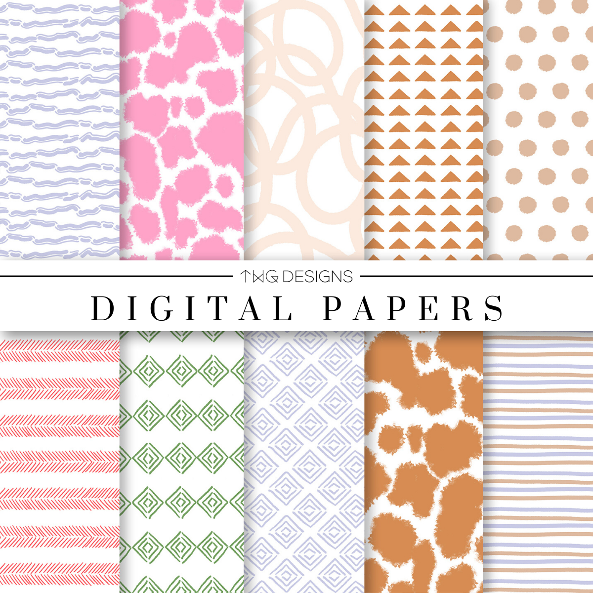 Boho Love Digital Paper Set