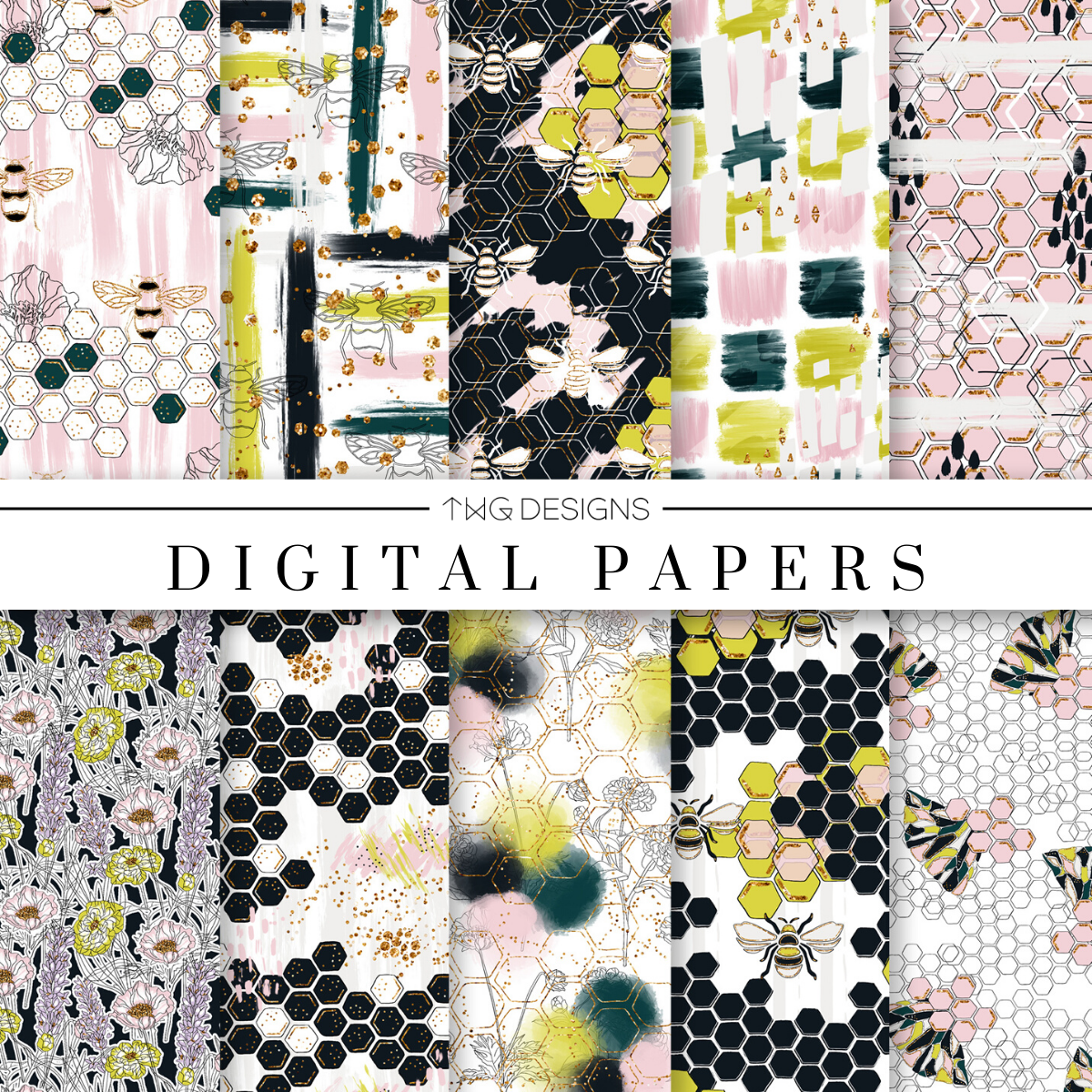 Bumble Digital Paper Set