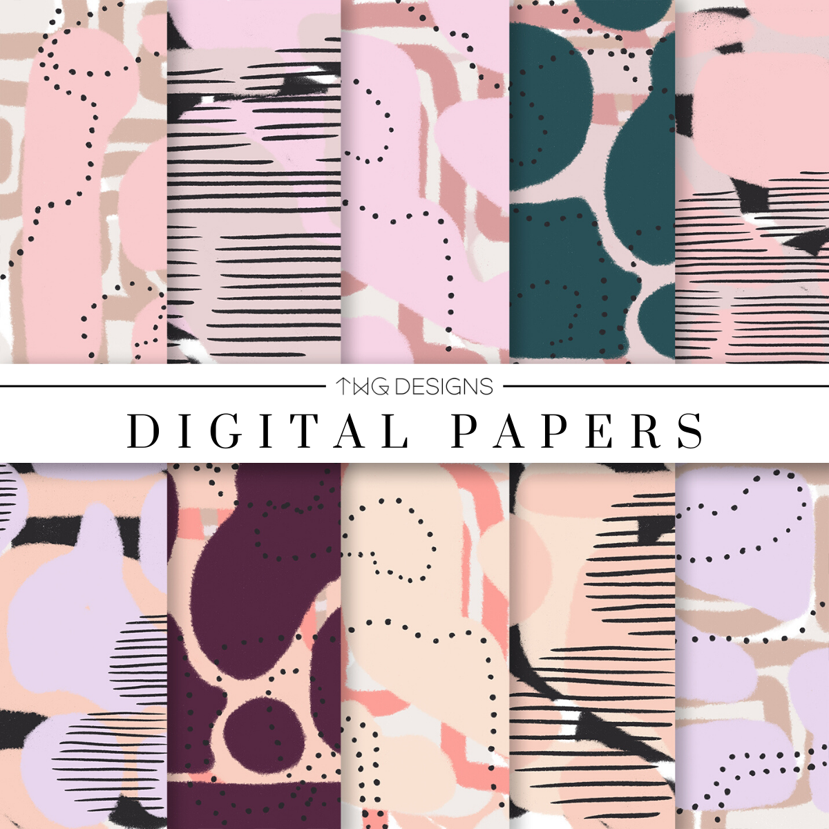 Glaming Digital Paper Set