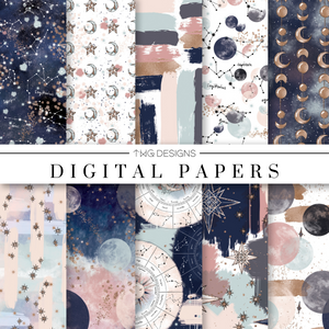 Celestial Digital Paper Set