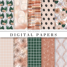 Load image into Gallery viewer, Summer Style Digital Paper Set
