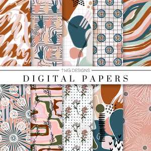 Booked & Busy Digital Paper Set