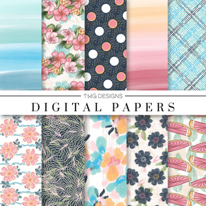 Salt & Sun Digital Paper Set