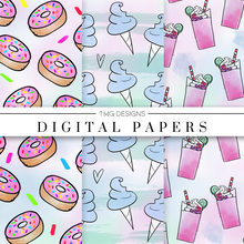 Load image into Gallery viewer, Pastel Sweets Digital Paper Set