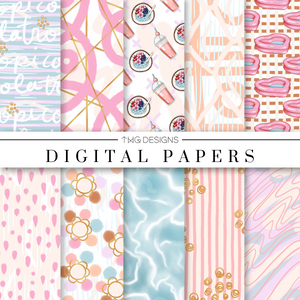 Tropicola Digital Paper Set