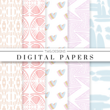 Load image into Gallery viewer, Pastel Simple Abstracts Digital Paper Set