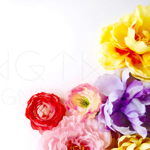 Bright Blooms Styled Stock Photo
