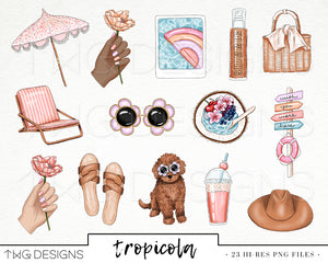Collections, Tropicola Clip Art Collection - TWG Designs
