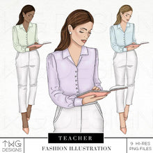 Load image into Gallery viewer, Fashion Illustrations, Teacher - Fashion Illustration - TWG Designs