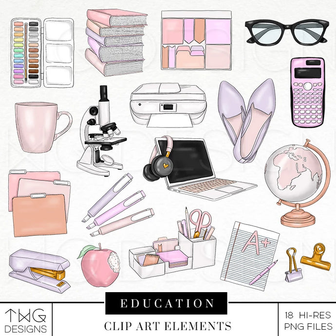 Themed Elements, Education Clip Art Elements - TWG Designs