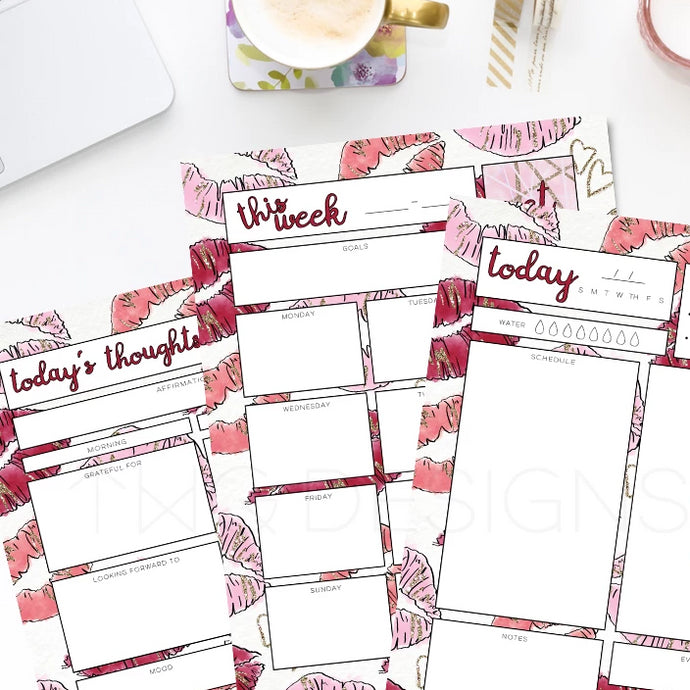 Printables, Kiss Kiss Planner Printable Bundle - TWG Designs