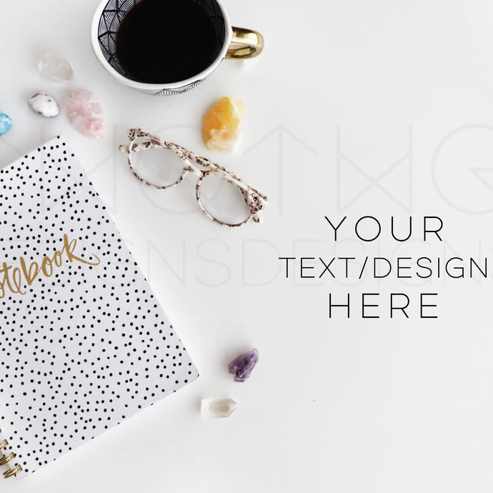 Styled Stock Photos, Notebooks & Crystals Styled Stock Photo - TWG Designs