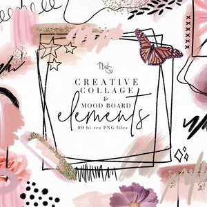 Design Elements, Creative Collage & Moodboard Elements - TWG Designs