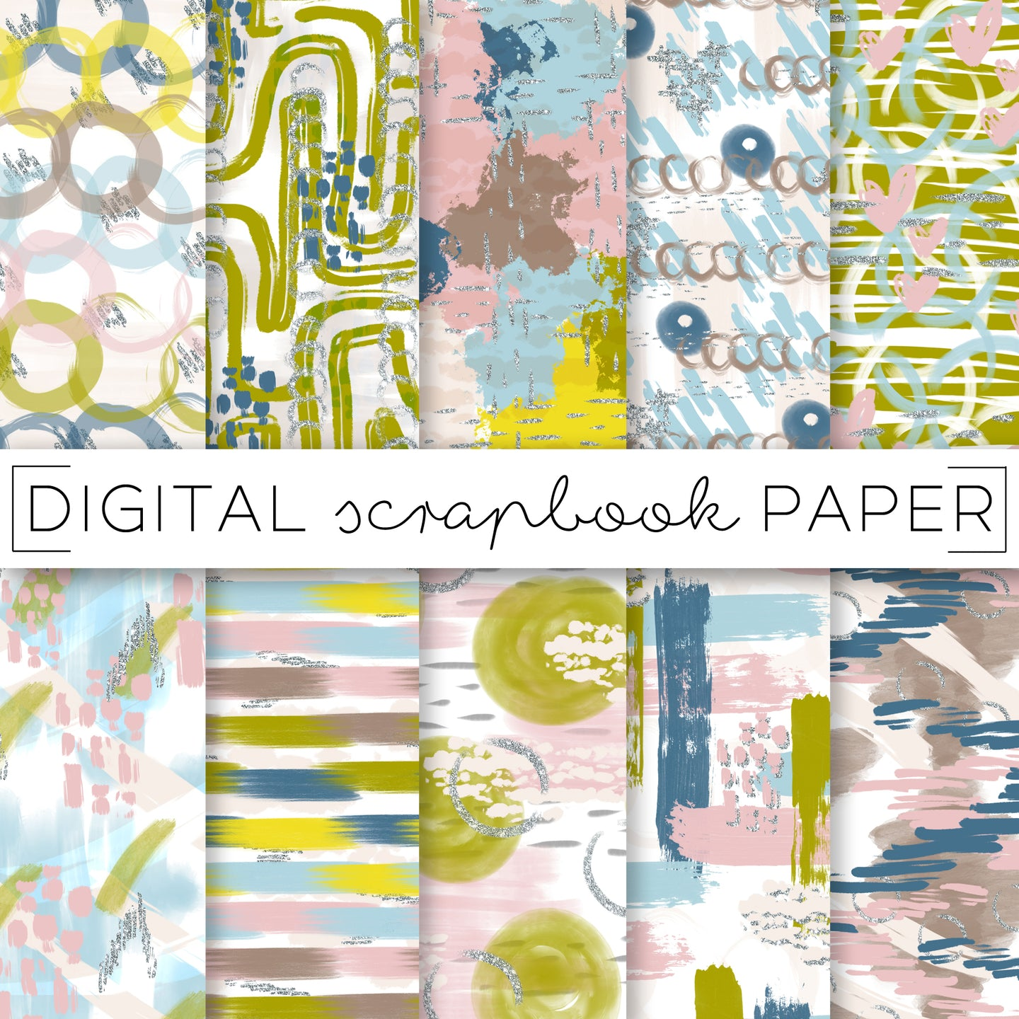 Digital Paper, Miami Fall Digital Paper Set - TWG Designs