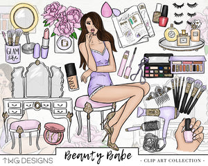 Collections, Beauty Babe Clip Art Collection - TWG Designs