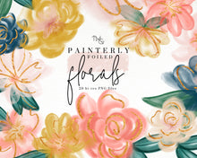 Load image into Gallery viewer, Design Elements, Painterly Floral Elements - TWG Designs